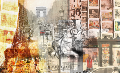 Paris Collage Art